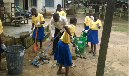 Clean Up Exercise at Ikpe Annang Market