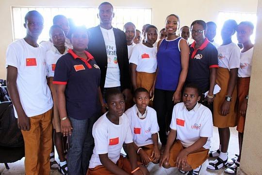 Graduating students with Ukwori Ejibe and Omololu