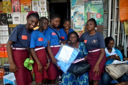 Clegg girls donate mosquito nets to community