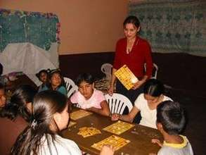 Yaqui Kids playing with their teacher