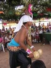 Yaqui kid as a Deer Dancer