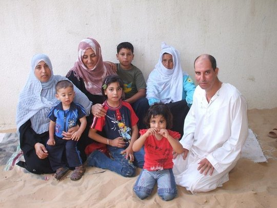 Physiotherapist Ali Al Bahry and his family
