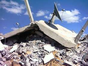 Rubble from the Al Bahry home demolished