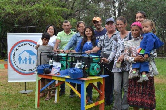 Community receiving water pump