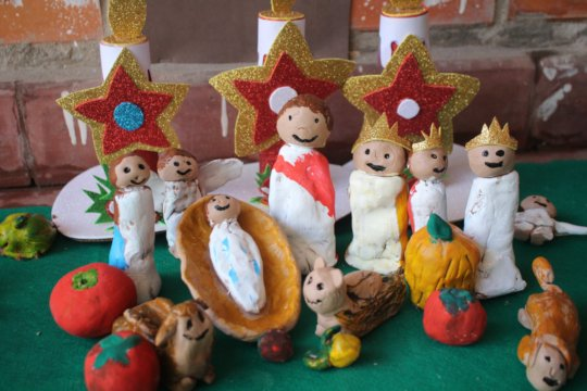 Christmas crafts made by children