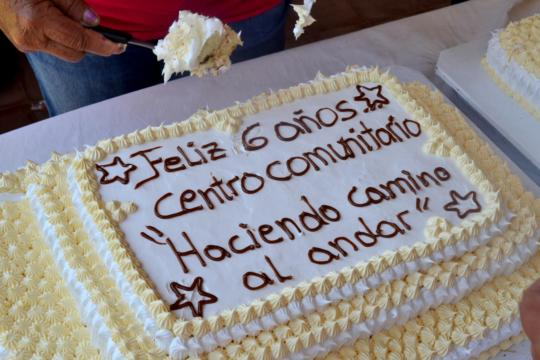 Shared a big cake!