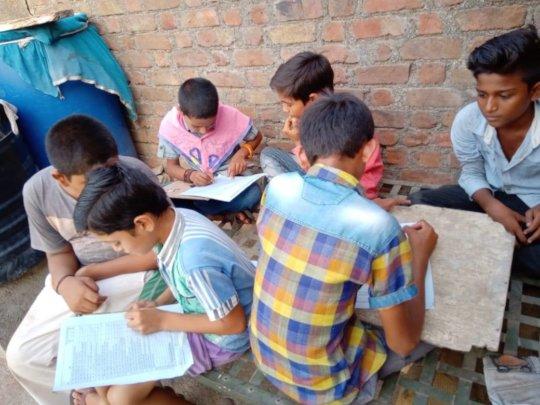 Balsena Children doing research on bullying