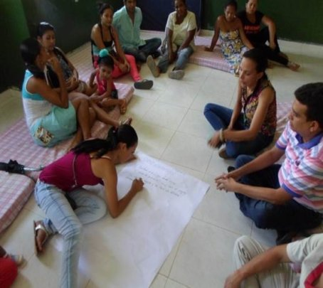Workshop on family violence with the parents