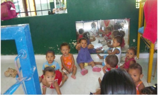 Toddlers at play in the Pivijay Children's Home