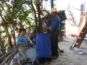 Training session on how to prepare bio-fertilizer