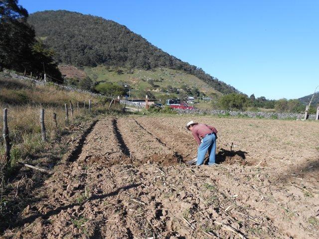 Preparing a vegetable garden in Tonatico