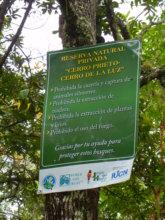 Entrance to the Cerro Prieto reserve
