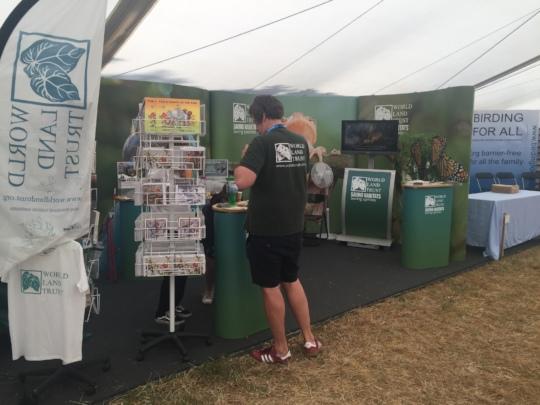 The WLT stand at the Rutland Bird Fair