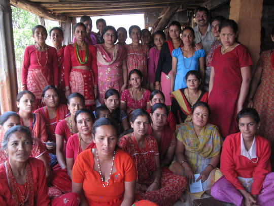Representatives of the women's groups