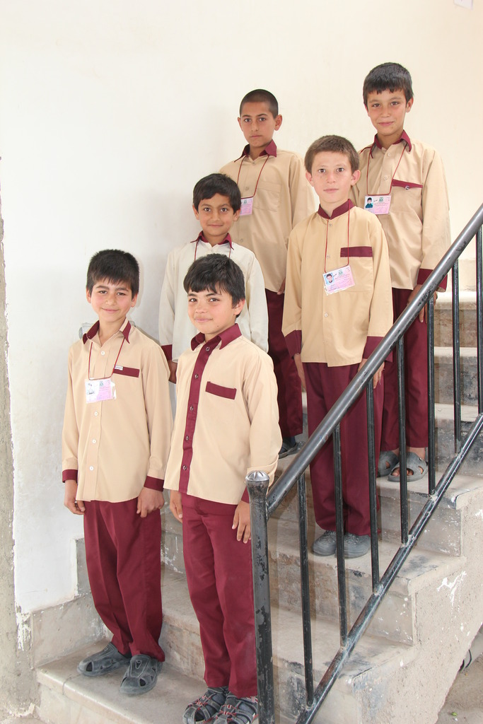 Ramin and his classmates