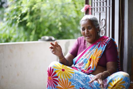 Poor Old age person having hope on seruds oldaged