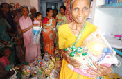 Sponsor food groceries to old age people in India