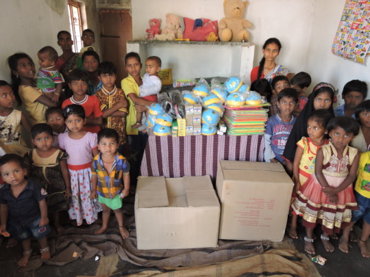 Donation of toys education material to the poor ch