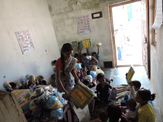 Sponsoring Education material for poor children in