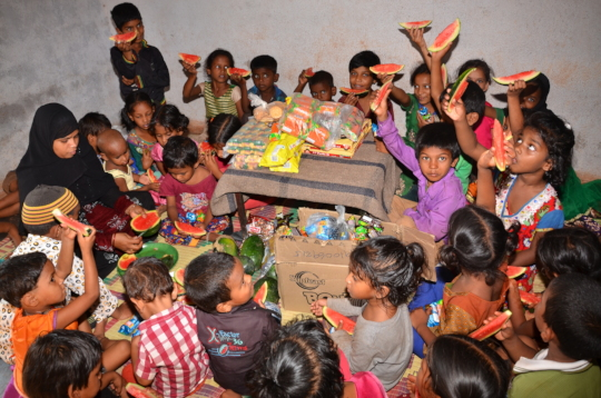 fruits donation to poor children in kurnool by ngo