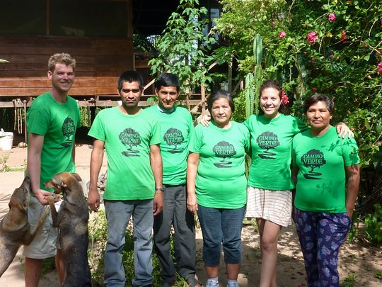 Our team in Tambopata, Peru