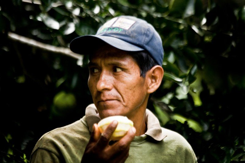 Juan Rafaele at his farm, Tambopata, Peru