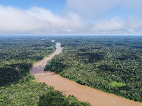 Tambopata River in the Peruvian Amazon