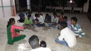 Night Meeting with Village Youth