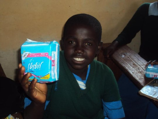 a girls showing her packet