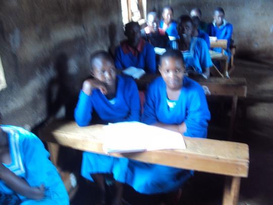 Rianyabwanga primary students - sanitary towels
