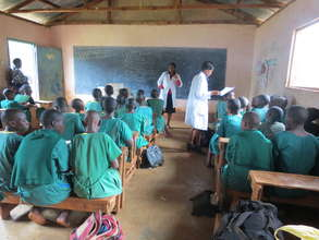staff teaching girls on sexual maturity