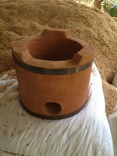 A special stove for burning sawdust or rice husks