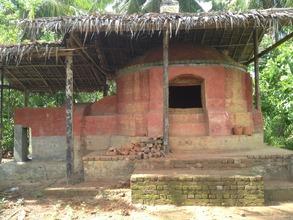 The rice-husk burning kiln