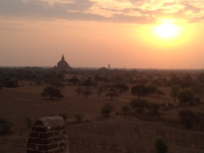 Sunrise over Bagan - on our day off!