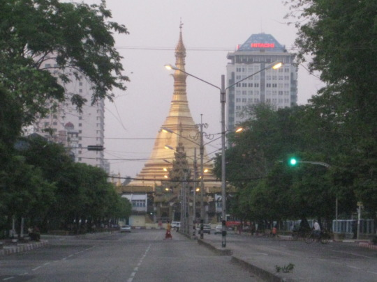 Sule Pagoda, soon to be surrounded by skyscrapers.