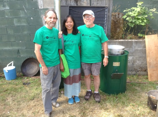Thida and I with Fred, the founder of InStove