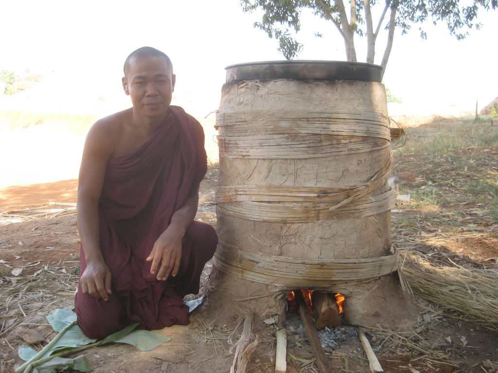 U Panditta beside our homemade kiln