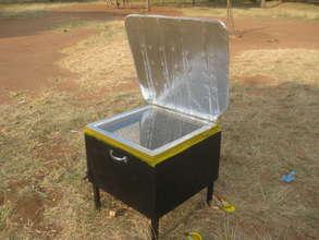 Our solar oven in Tanzania
