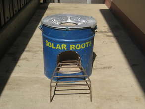 Our Solar Roots copy of the Aprovecho Rocket stove