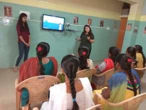 Spoken English class @ Sneha Seva Trust lab