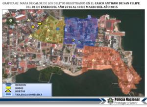 Map Of Crime In Casco Viejo