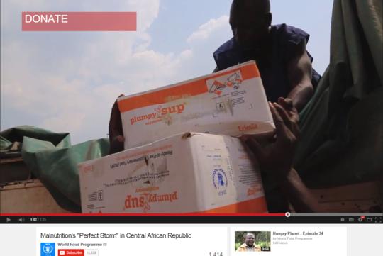 Edesia's Plumpy'Sup unloaded in Bangui