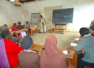Rehema Conducting information sharing sessions.