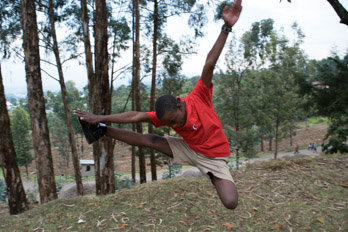 Eric - now leaping at school (Credit: Steve Organ)