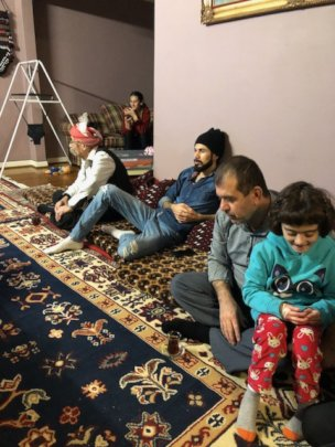3 Generations filming a Yazidi family
