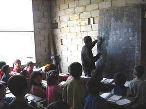 Teacher teaching in the classroom
