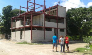 The new clinic, still under construction