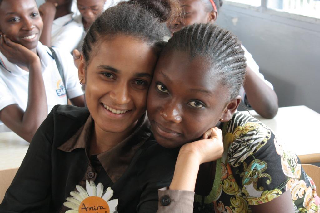 Two greenlight girls in Kinshasa