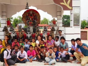 Our Sansar family at a local temple