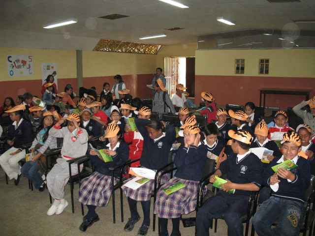 Workshops with children and youth throughout Ecuador